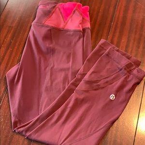 Lululemon burgundy Capri leggings